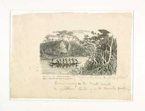 'River Scenery on the West Coast', c. 1856 - MS.42433