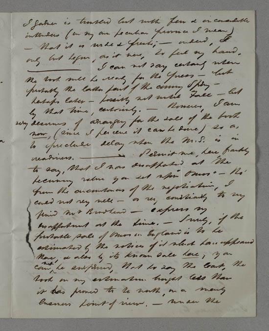 Letter of Herman Melville to John Murray, 29 October 1847 - MS.42477 ff.15-16