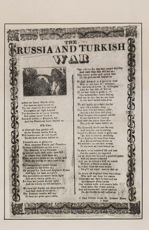 (1) Russia and Turkish war