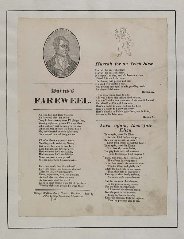 (6) Burns's farewell