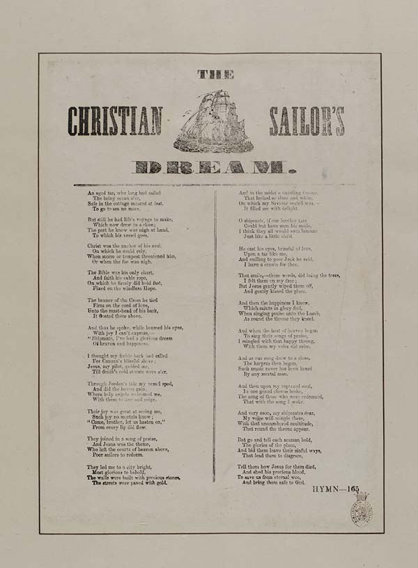 (2) Christian sailor's dream