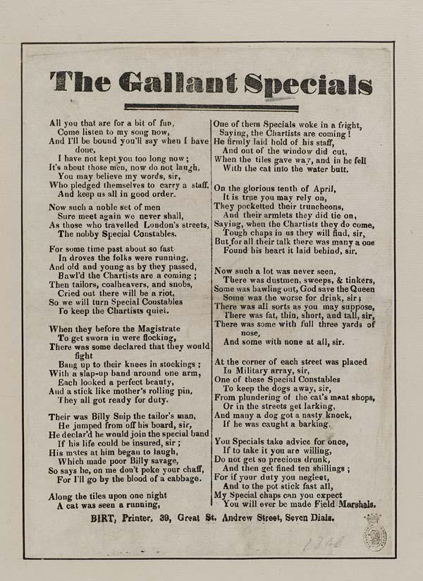 (3) Gallant specials