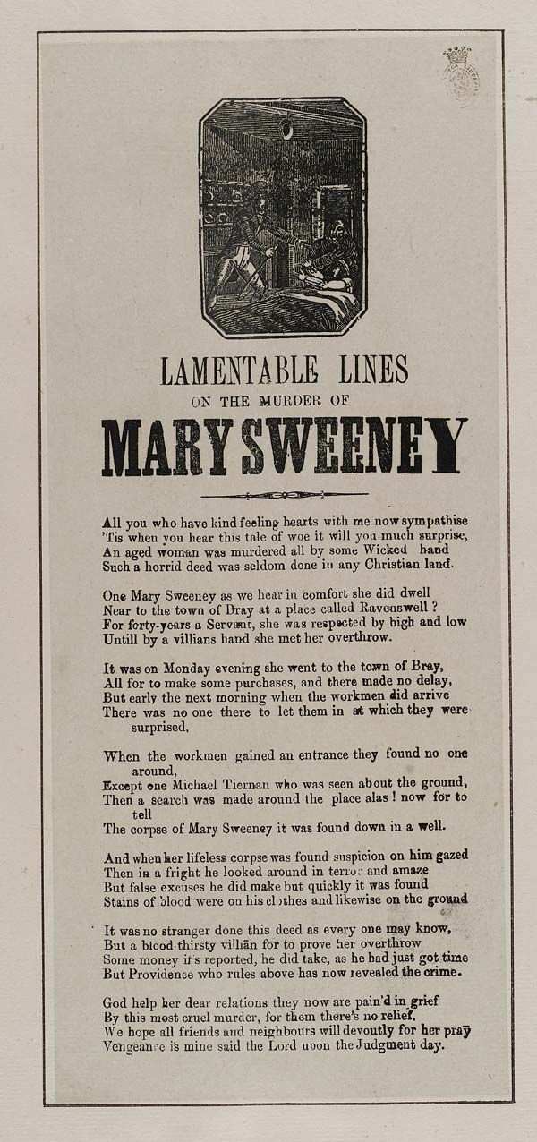 (9) Lamentable lines on the murder of Mary Sweeney