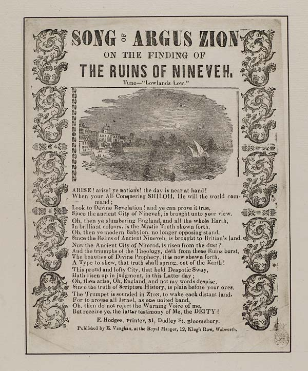 (5) Song of Argus Zion on finding the ruins of Nineveh