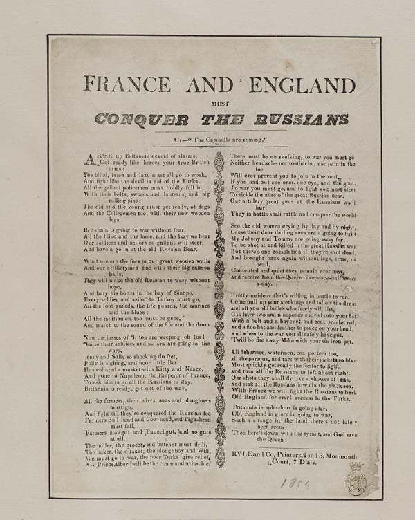 (4) England and France must conquer the Russians