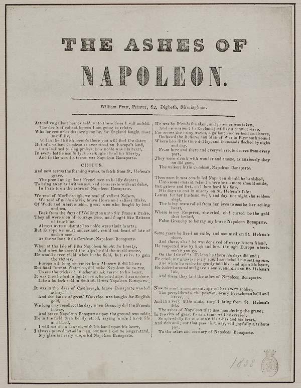 (16) Ashes of Napoleon