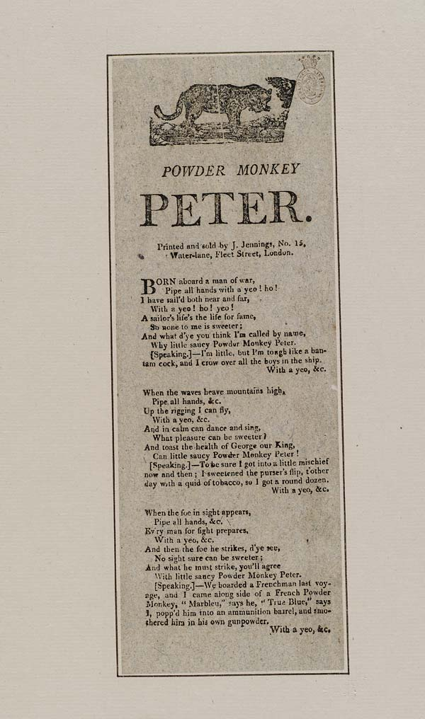 (19) Powder monkey Peter