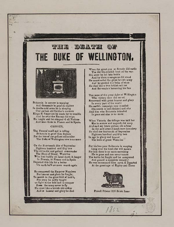 (13) Death of Duke of Wellington