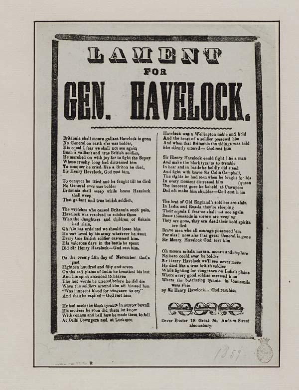 (15) Lament for Gen Havelock