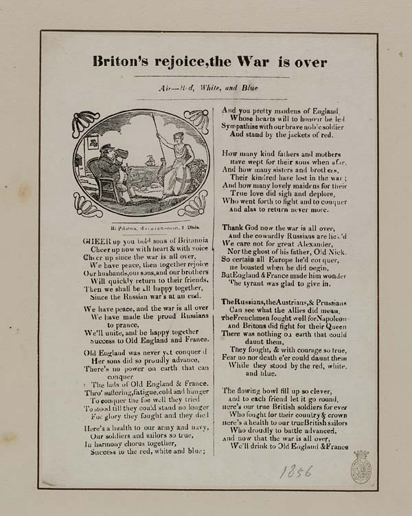 (16) Briton's rejoice, the war is over