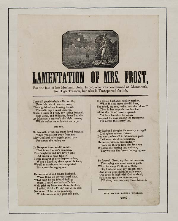 (23) Lamentation of Mrs Frost