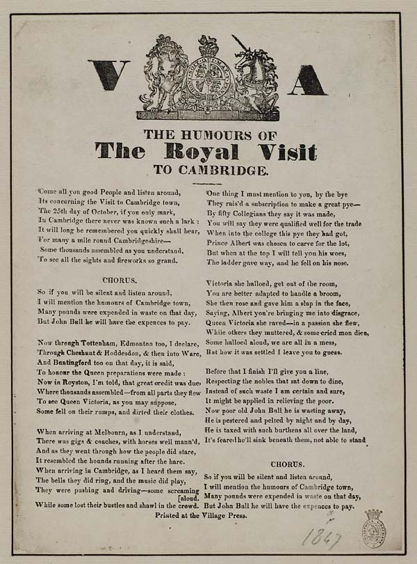 (28) Humours of the royal visit to Cambridge