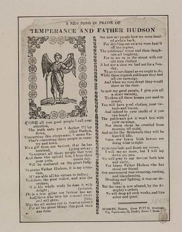 (8) New song in praise of temperance and Father Hudson