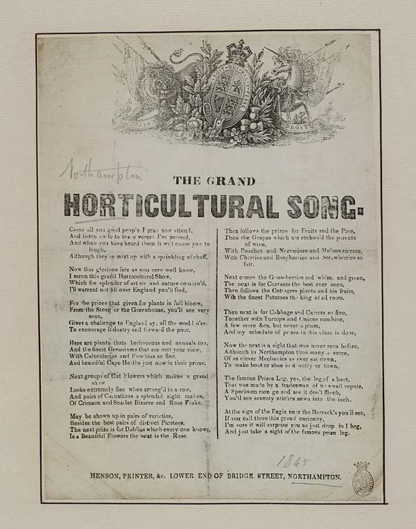(15) Grand horticultural song