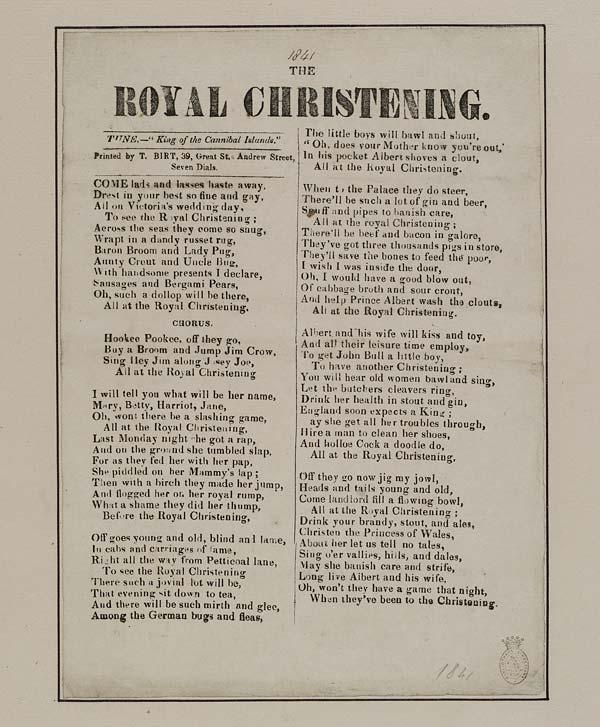 (34) Royal christening
