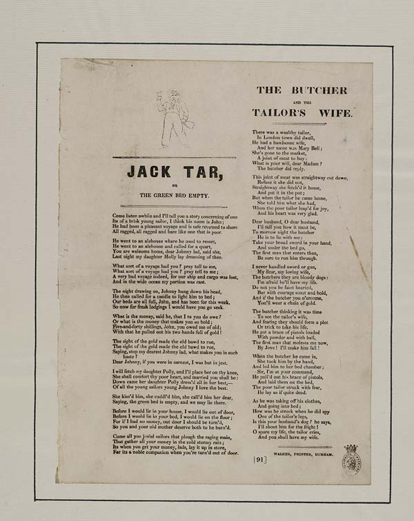(32) Jack tar, or the green bed empty