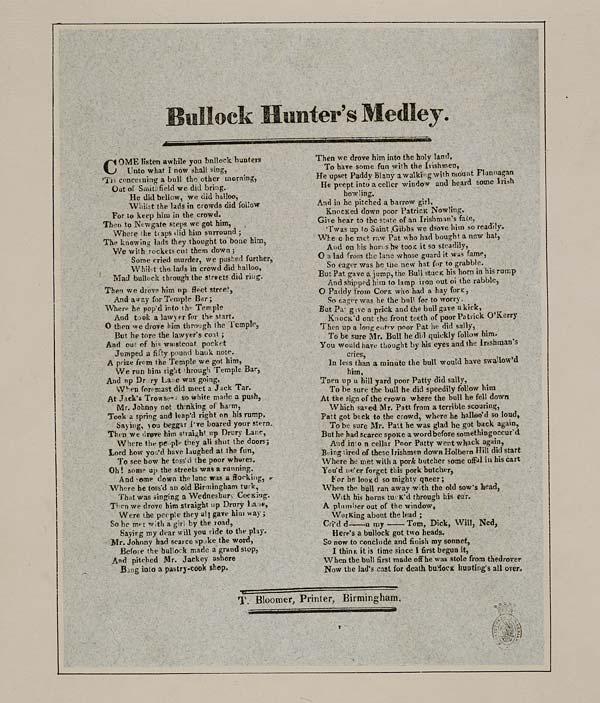 (32) Bullock hunter's medley