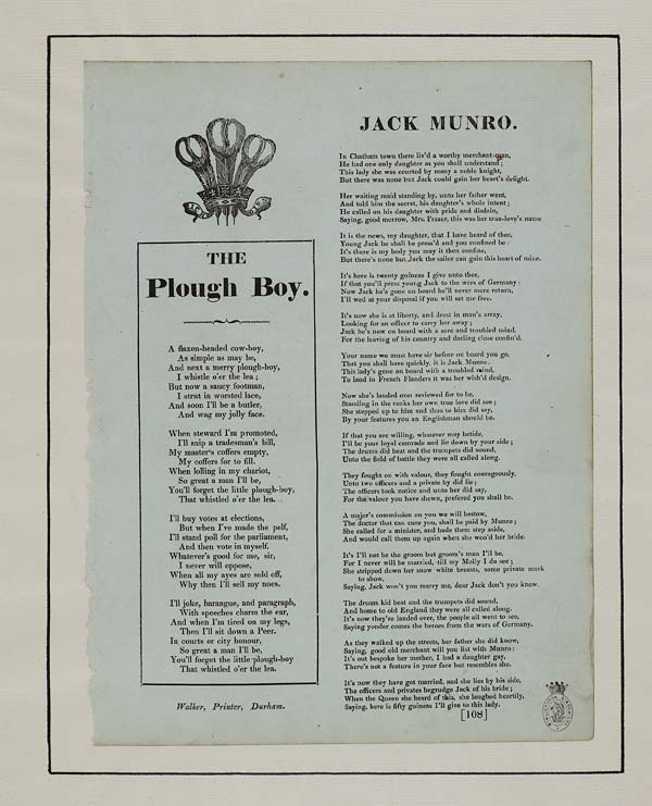(27) Plough boy