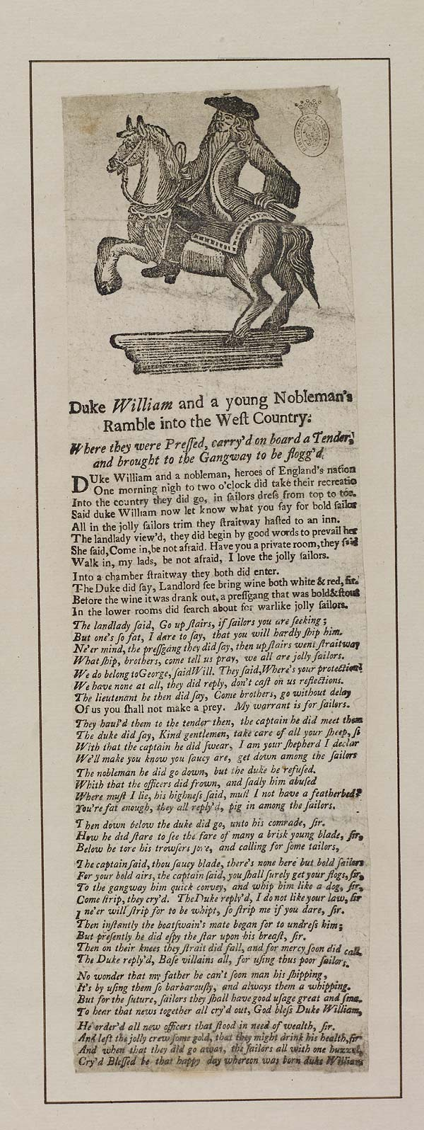 (39) Duke William and a young nobleman's ramble into the west country