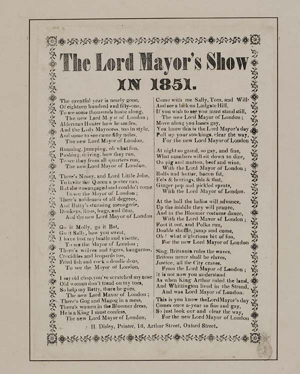 (34) Lord Mayor's show in 1851