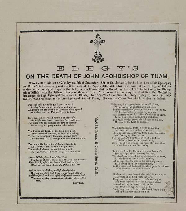 (19) Elegy's on the death of John Archbishop of Tuam
