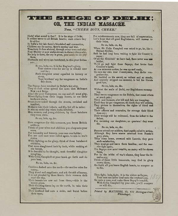 (7) Siege of Dehli; or, the Indian massacre