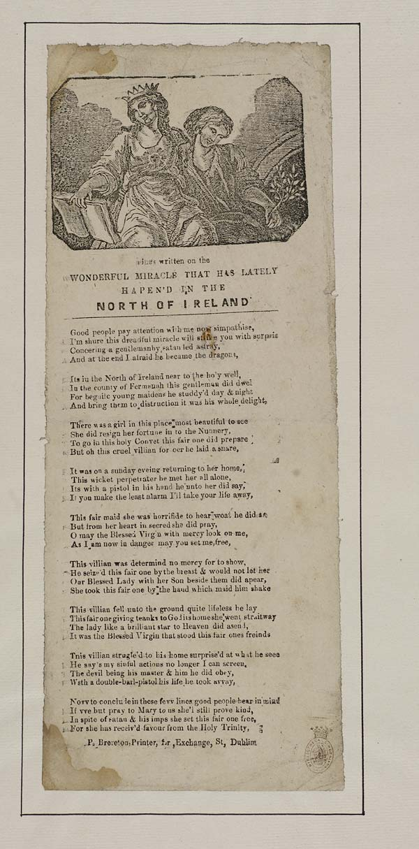 (47) Lines written on the wonderful miracle that has lately hapen'd in the north of Ireland