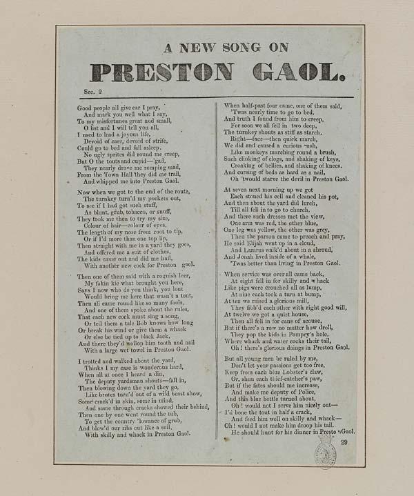 (38) New song on Preston gaol