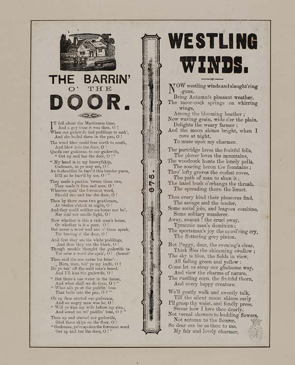 (17) Barrin' o' the door