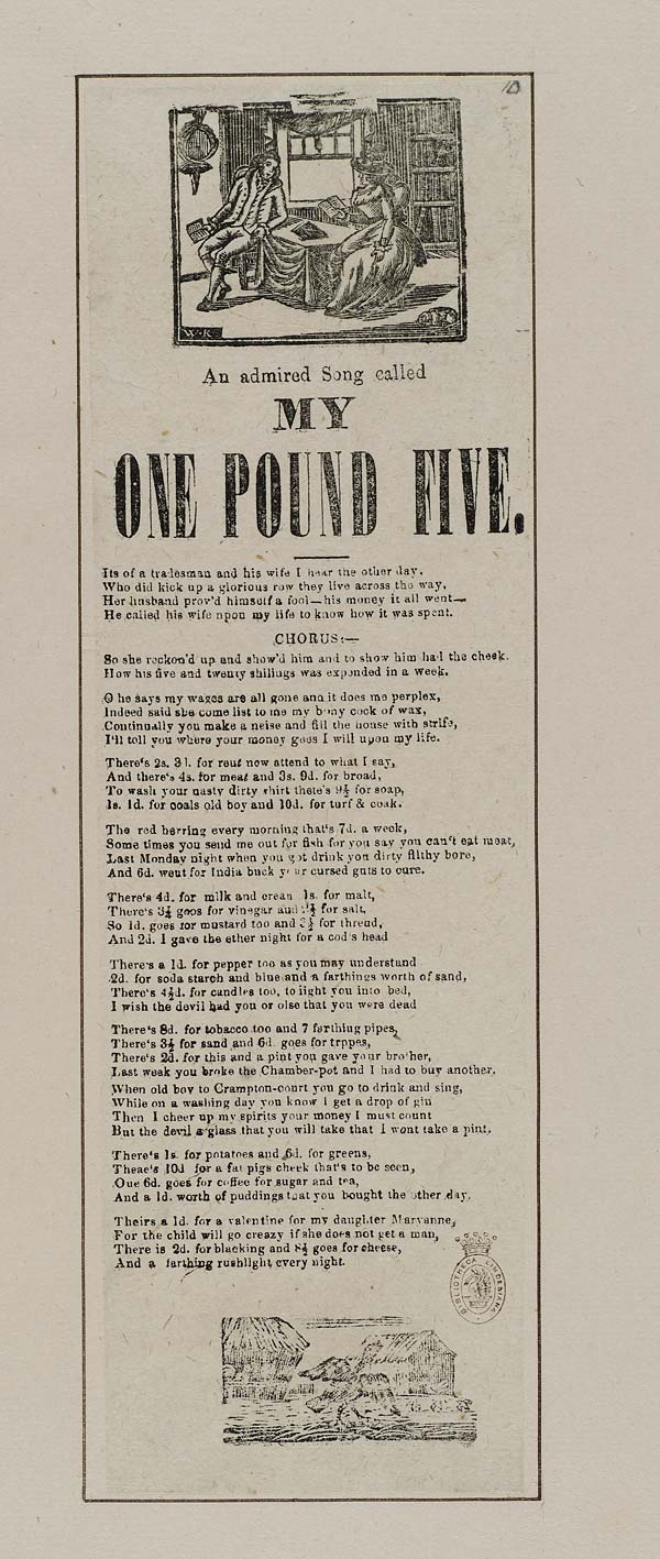 (33) Admired song called My one pound five