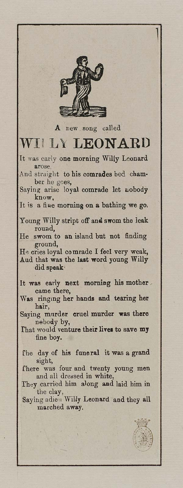(12) New song called Willy Leonard