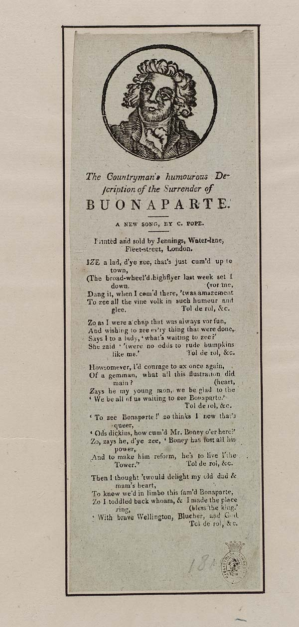 (33) Countryman's humourous description of the surrender of Buonaparte