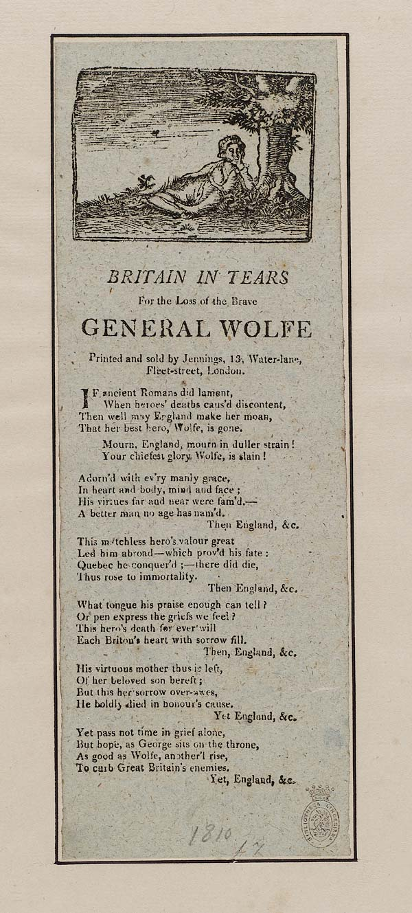 (31) Britain in tears for the loss of the brave General Wolfe
