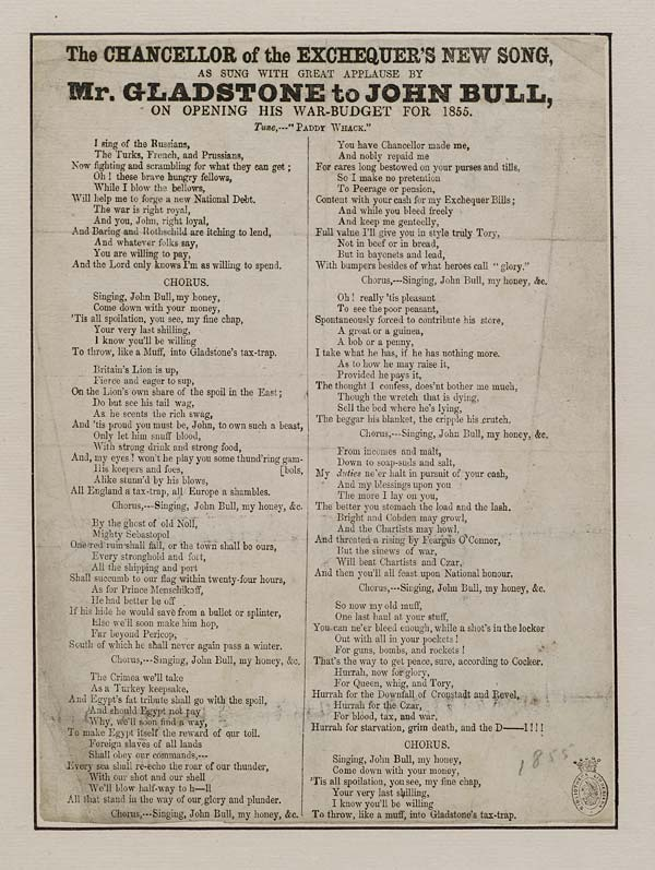 (34) Chancellor of the exchequer's new song