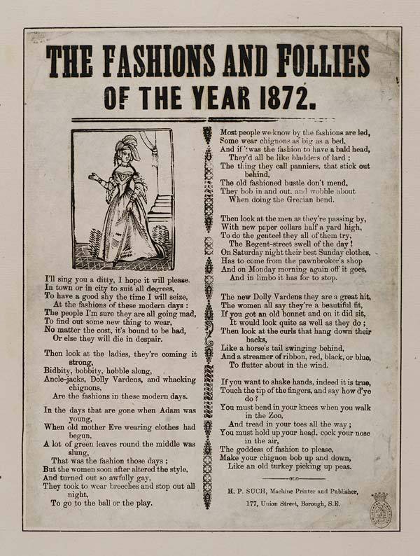 (12) Fashions and follies of the year 1872
