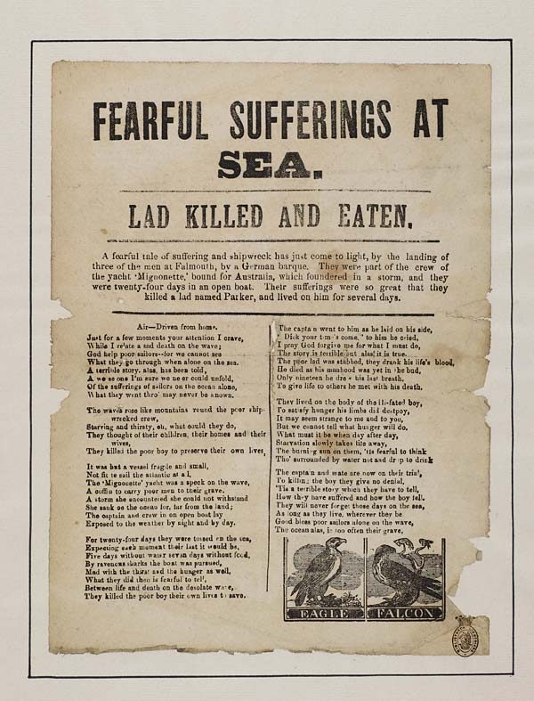 (17) Fearful sufferings at sea