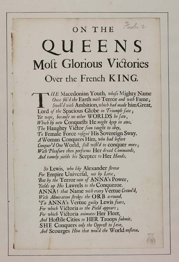 (2) [Page 2] - On the Queens most glorious victories over the French king