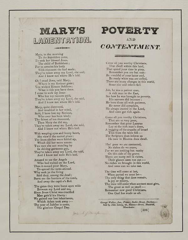 (38) Mary's lamentation