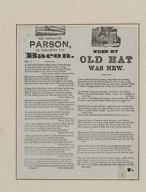 (44) Methodist parson, or, Preaching for bacon