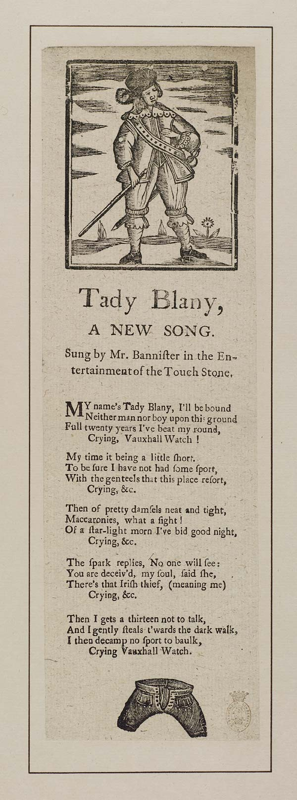 (22) Tady Blany, a new song
