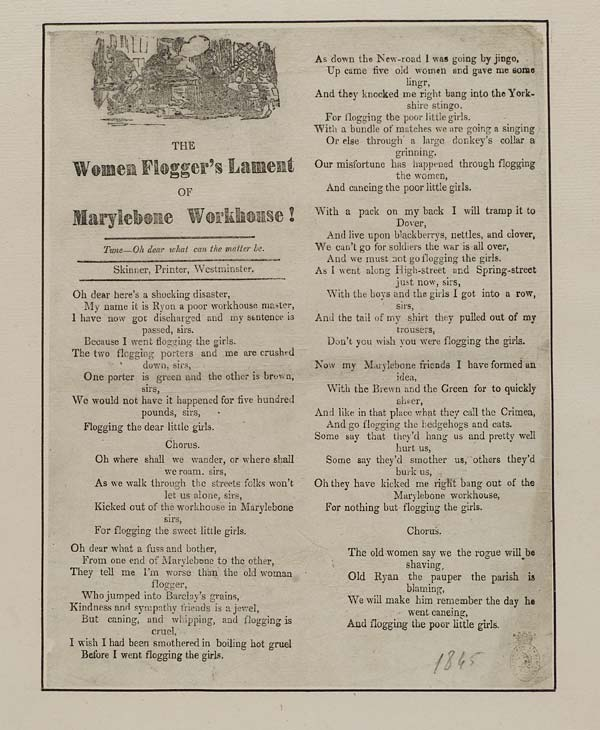 (42) Flogger's lament of Marylebone workhouse