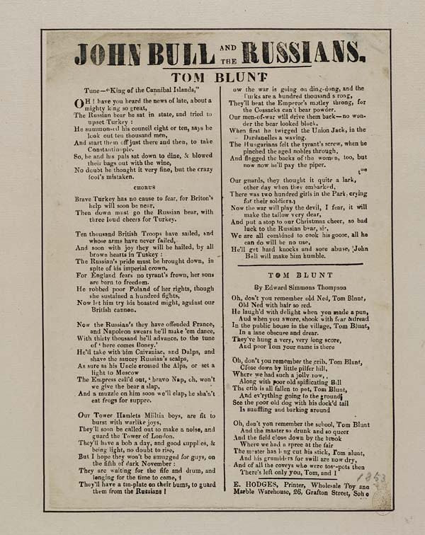 (38) John Bull and the Russians