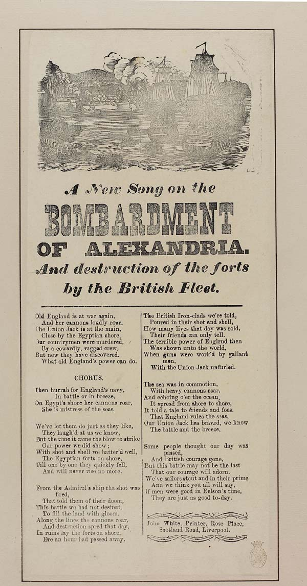 (14) New song on the bombardment of Alexandria