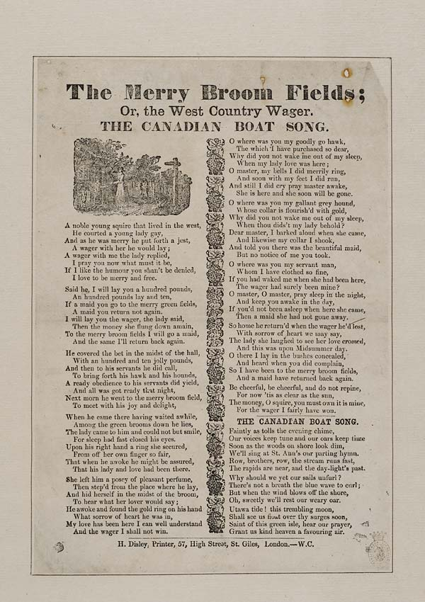 (13) Merry broom fields; or, The west country wager