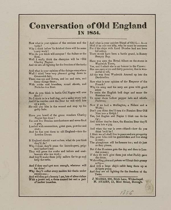 (41) Conversation of old England in 1854
