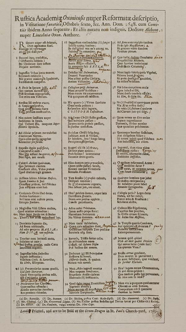 (32) Rustica Academiæ Oxoniensis nuper reformatæ descriptio