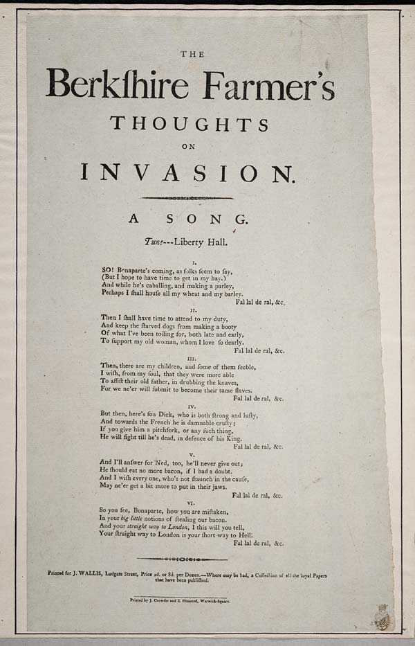 (42) Berkshire farmer's thoughts on invasion