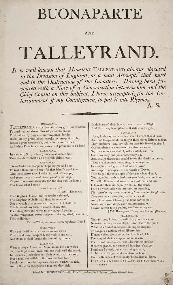 (43) Buonaparte and Talleyrand