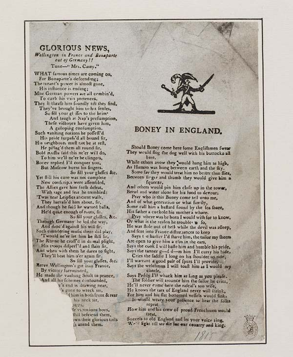 (46) Glorious news, Wellington in France and Bonaparte out of Germany