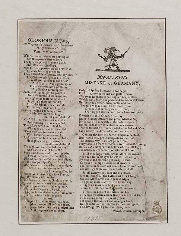 (47) Glorious news, Wellington in France and Bonaparte out of Germany